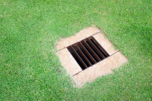 French drain for a lawn